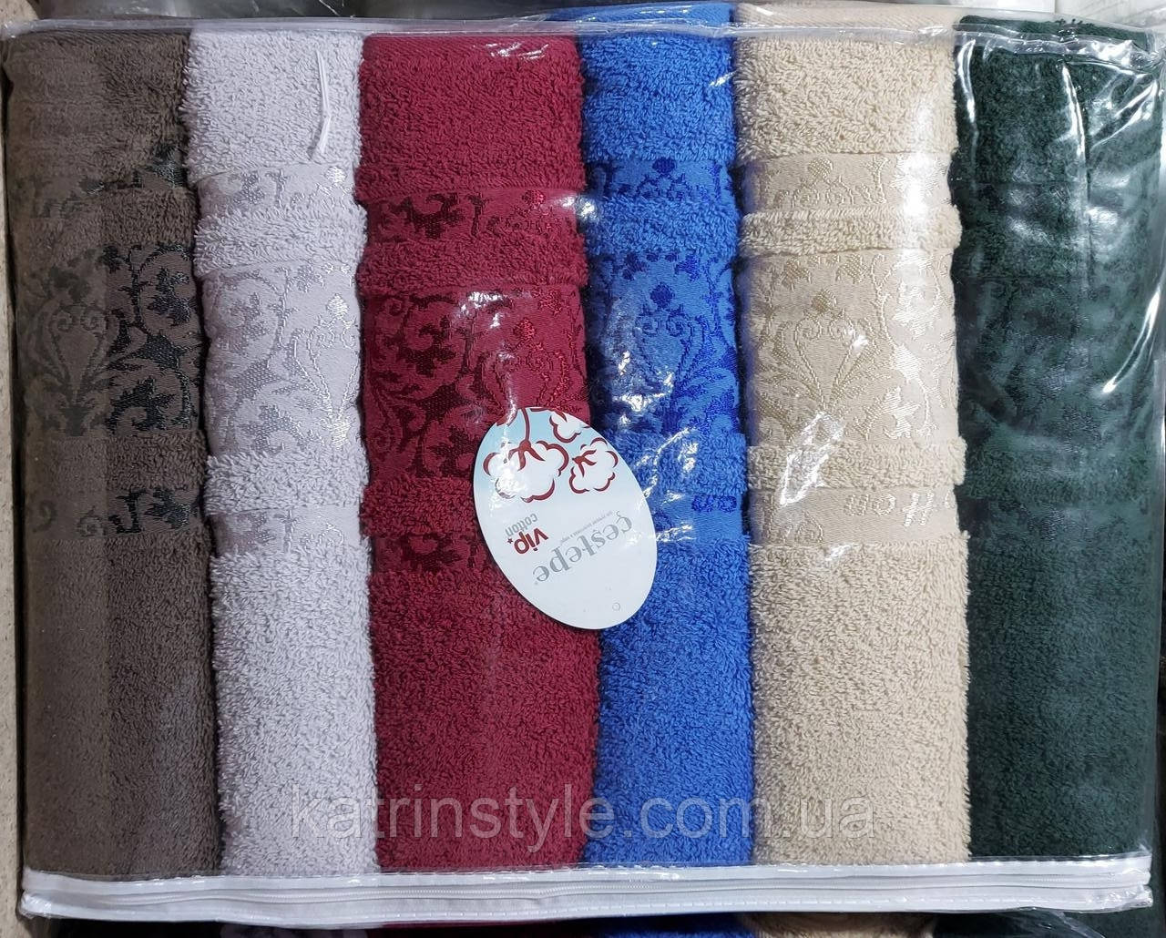 Махровые полотенца сауна «Vip cotton Hayal» 150*90 см (6 шт)