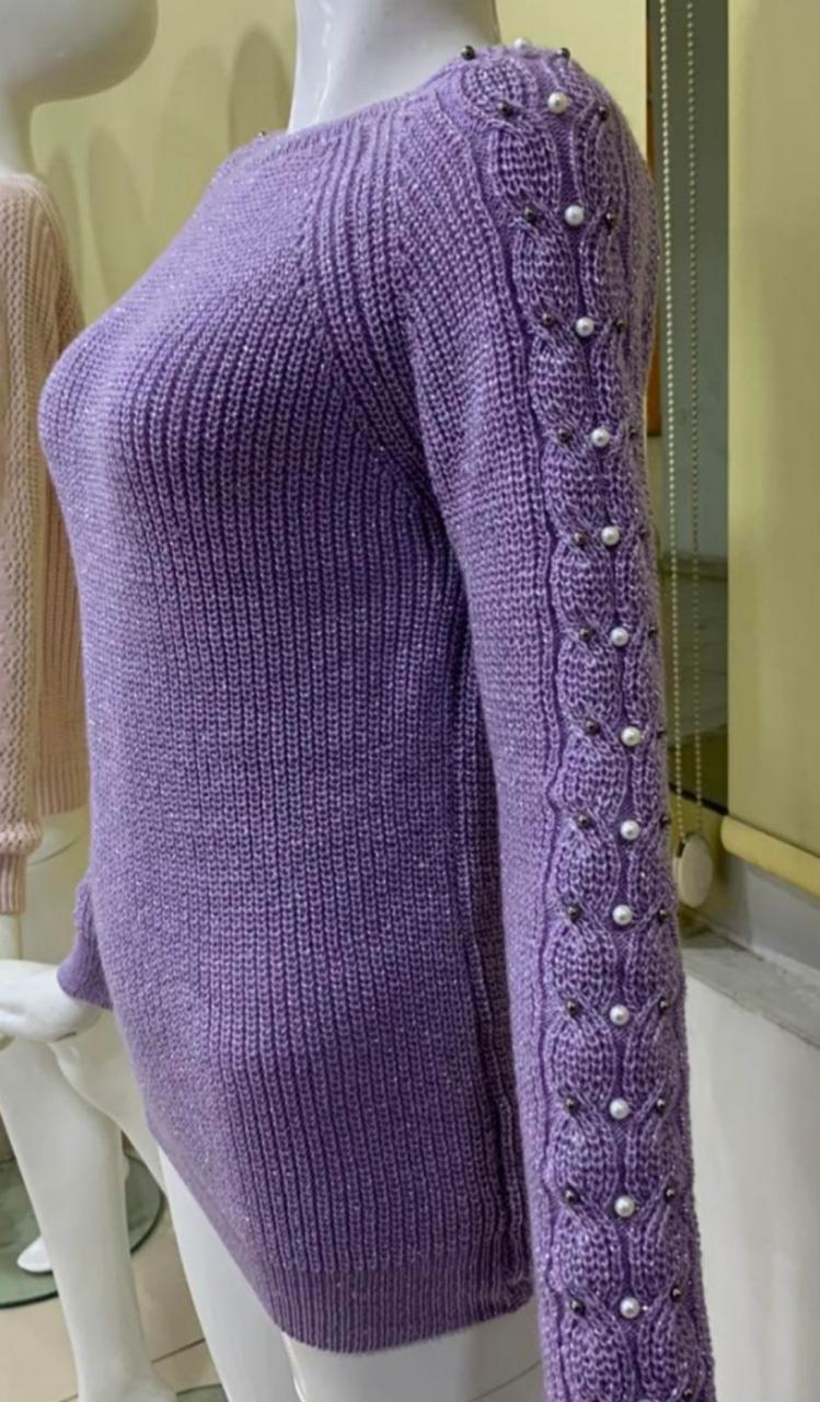Подростковый вязаный свитер для девочек