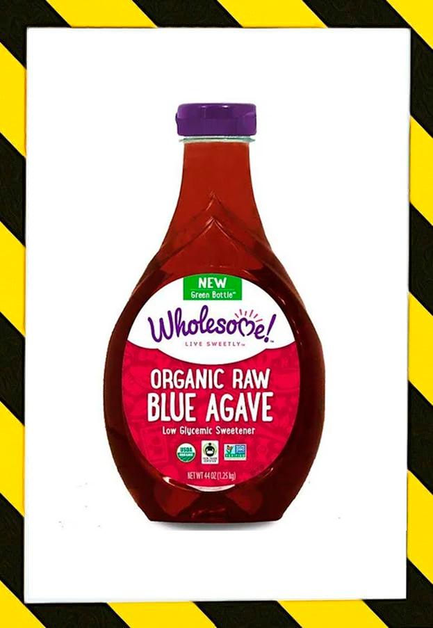 Wholesome , Органическая необработанная голубая агава, Заменитель сахара натуральный 1,25 кг