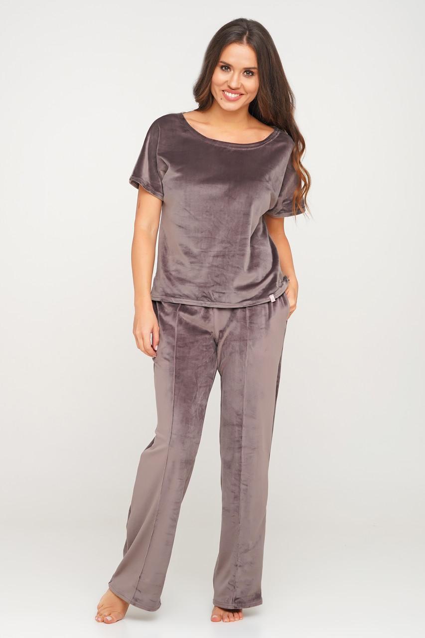Велюровый костюм-пижама  штаны и футболка  Orli