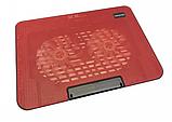 Подставка охлаждающая для ноутбука 2 вентилятора, диагональ 9-17 дюймов красный N99, фото 3