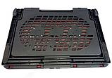 Подставка охлаждающая для ноутбука 2 вентилятора, диагональ 9-17 дюймов красный N99, фото 5