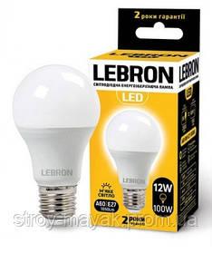 Светодиодная LED лампа LEBRON L-A60, 12W, Е27 мягкий свет