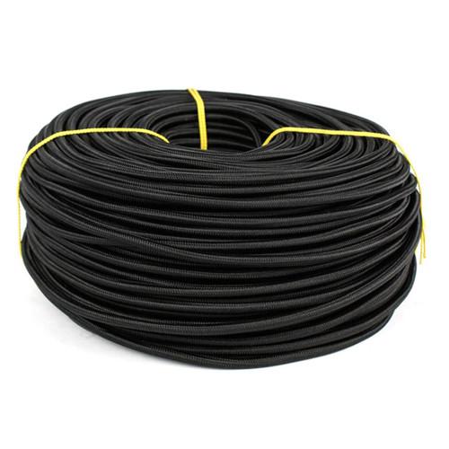 ElectroHouse Провод в текстильной оплетке 2х0,5 черный