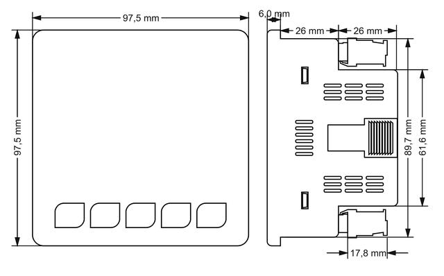 Габаритные размеры Мультиметр EM-100D (анализатор параметров сети)
