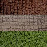 Накидка на угловой диван и кресло натяжные чехлы турецкие Серо коричневый жатка Разные цвета, фото 7