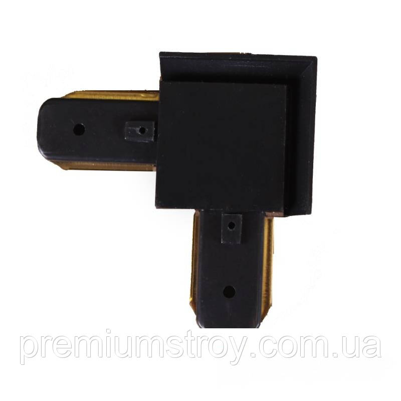 ElectroHouse Коннектор для трекового LED светильника  угловой  черный