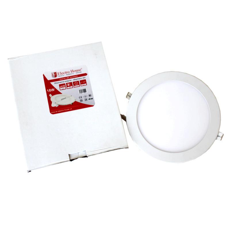 ElectroHouse LED панель круглая 18W 4100К 1620Lm Ø 225мм