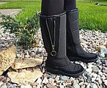 Дутики женские зимние теплые Mola черные высокие. Живое фото, фото 3