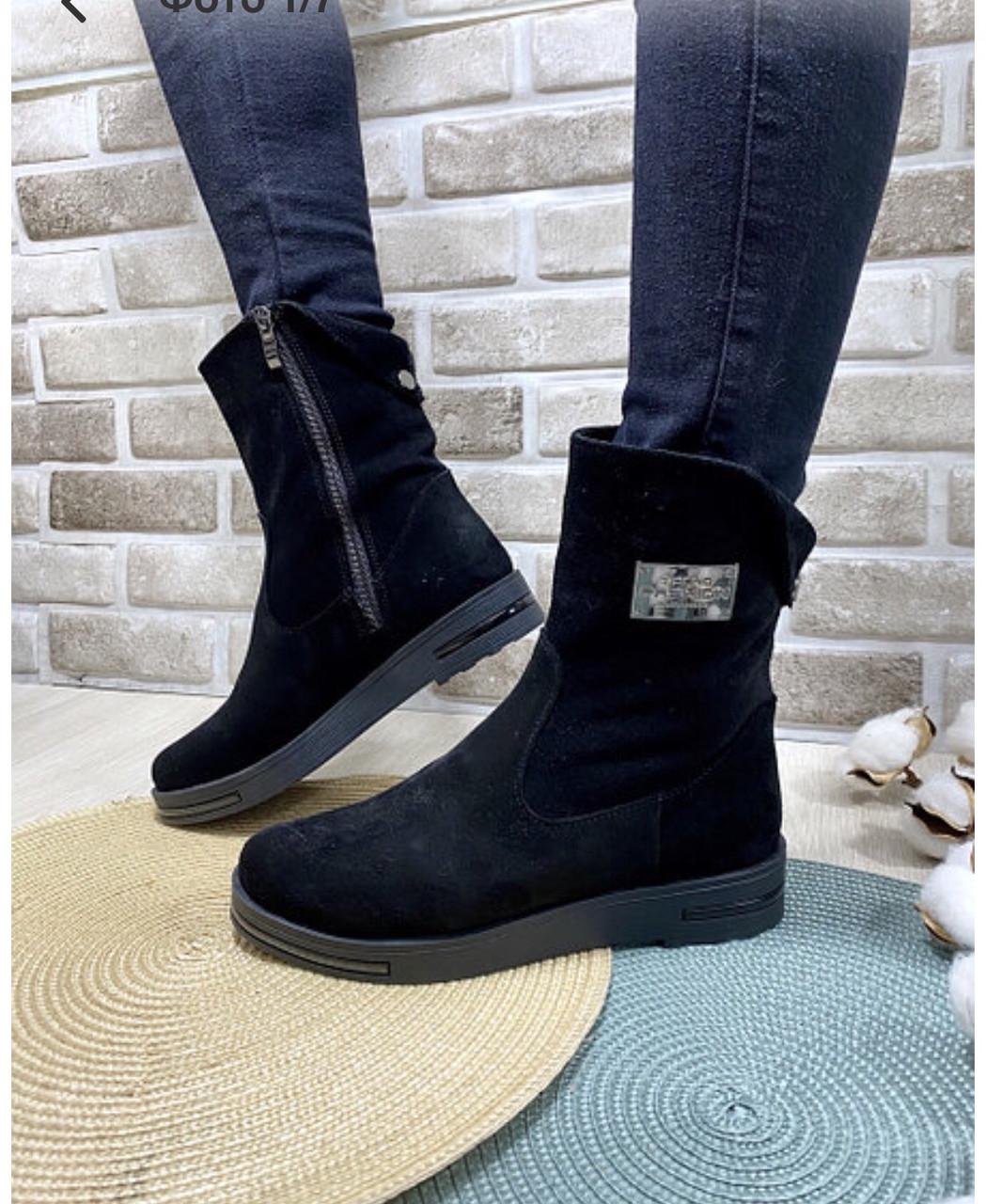 Ботинки женские зима классика замш
