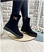Ботинки женские зима классика замш, фото 2