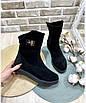 Ботинки женские зима классика замш, фото 3