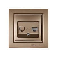 ElectroHouse Розетка компьютерная Роскошно золотой Enzo 1x8P8C IP22