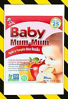 Hot Kid, Baby Mum-Mum, рисовые галеты для детей с яблоком и тыквой для прорезывания зубов 24 шт 50 г