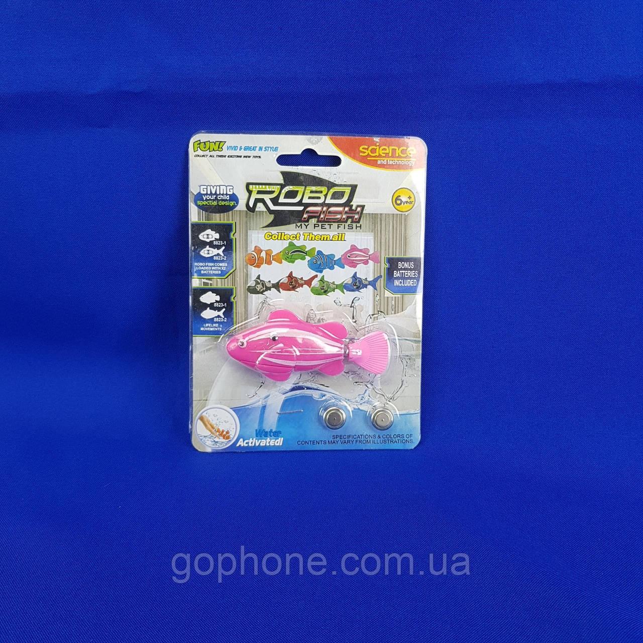 Нано - рыбка для аквариума на батарейках RoboFish (Розовая)