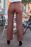 Брюки женские коричневого цвета, фото 2