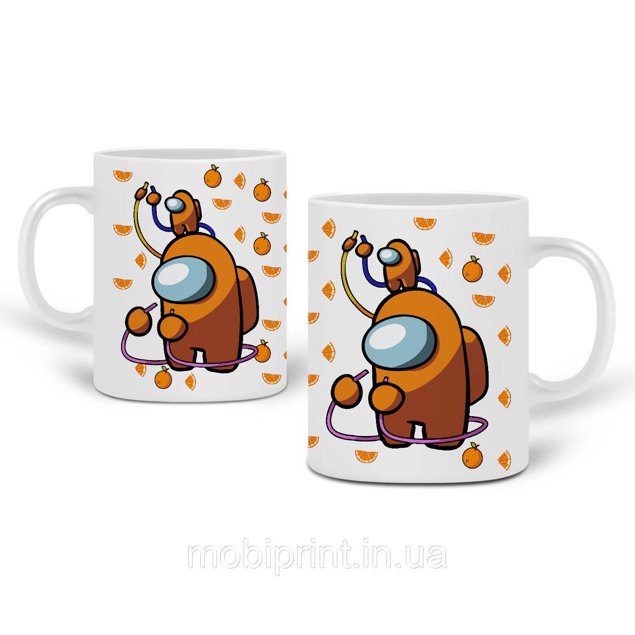 Кружка Амонг Ас Оранжевый (Among Us Orange) 330 мл Чашка Керамическая (20259-2413)