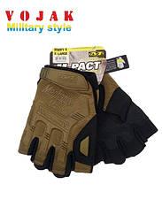 Безпалі тактичні рукавички Mechanix M-Pact Coyote