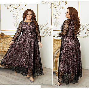 Платье  БАТАЛ в пол нарядное в расцветках 984000, фото 2
