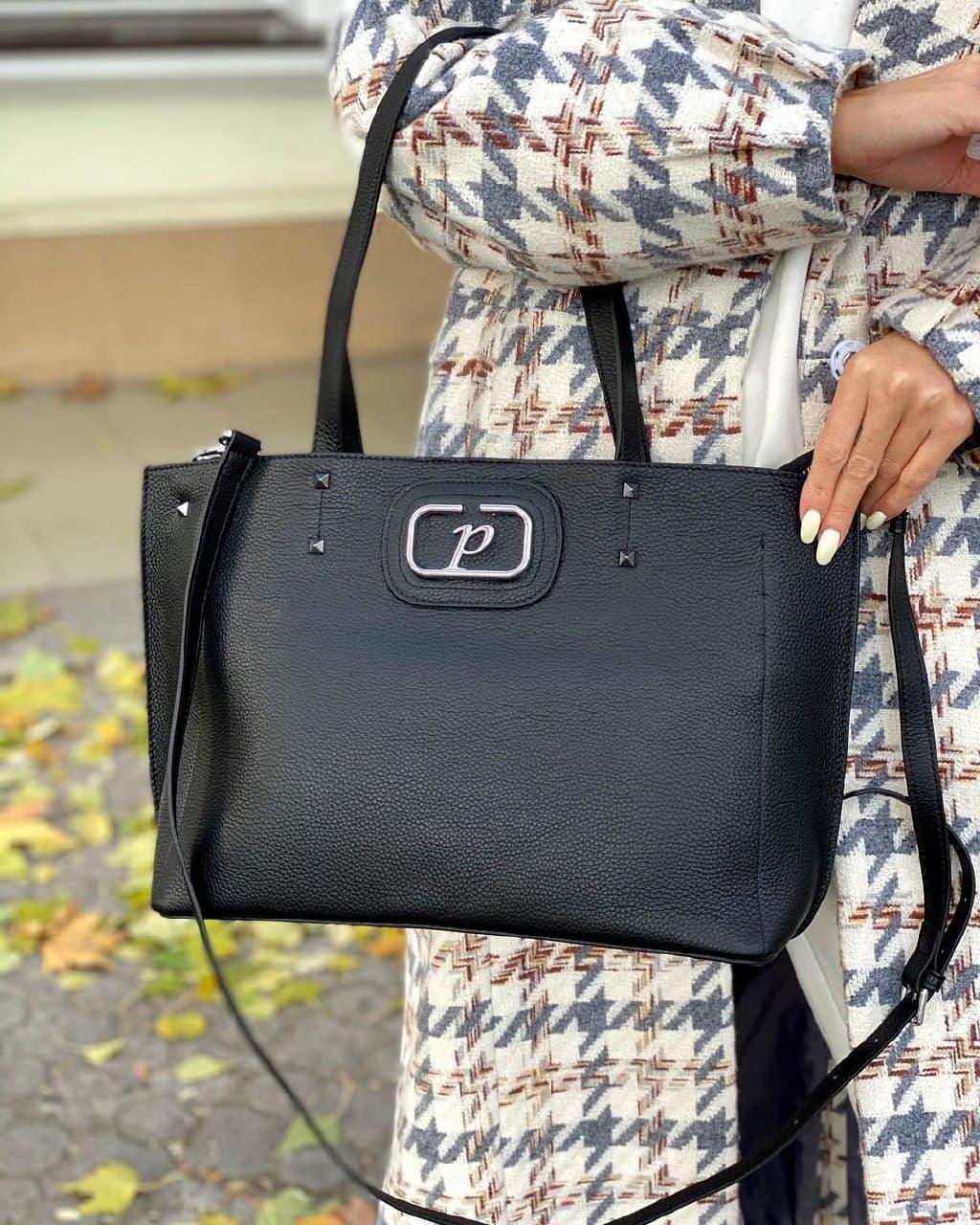 Женская кожаная сумка polina&eiterou