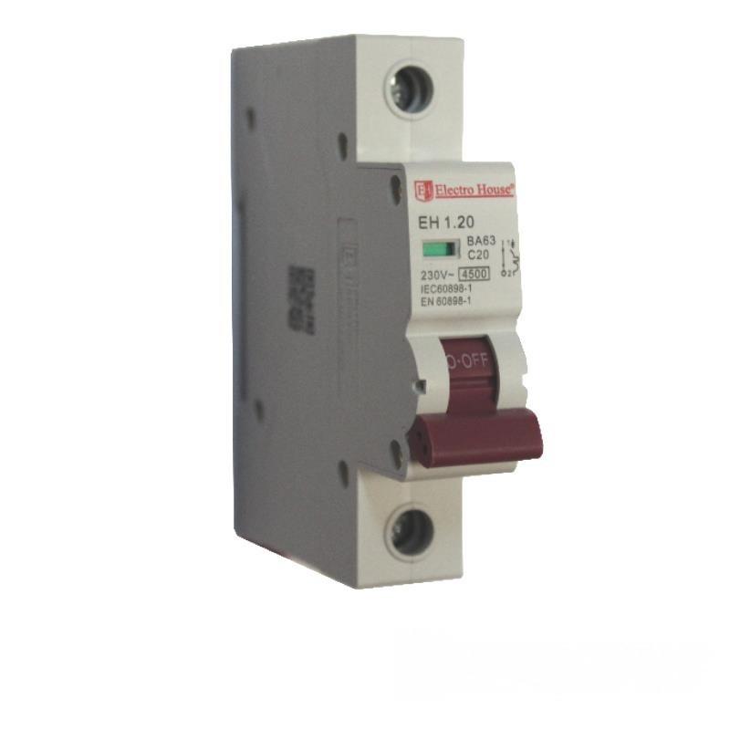 ElectroHouse Автоматический выключатель 1P 20A 4,5kA 230-400V IP20