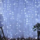 Гирлянда штора водопад светодиодная, 500 LED, Белая, прозрачный провод, 3х2м., фото 4