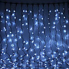 Гирлянда штора водопад светодиодная, 500 LED, Белая, прозрачный провод, 3х2м., фото 6