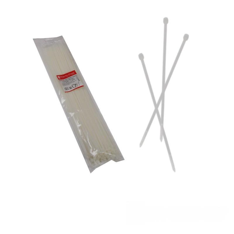 ElectroHouse Стяжка кабельная белая 5x500