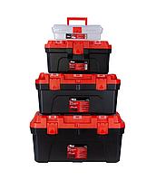 Набор ящиков для инстр. 4в1, 305×150×100 мм, 410×230×205 мм, 507×254×259 мм, 572×300×295 мм, Ultra (7402082), фото 1