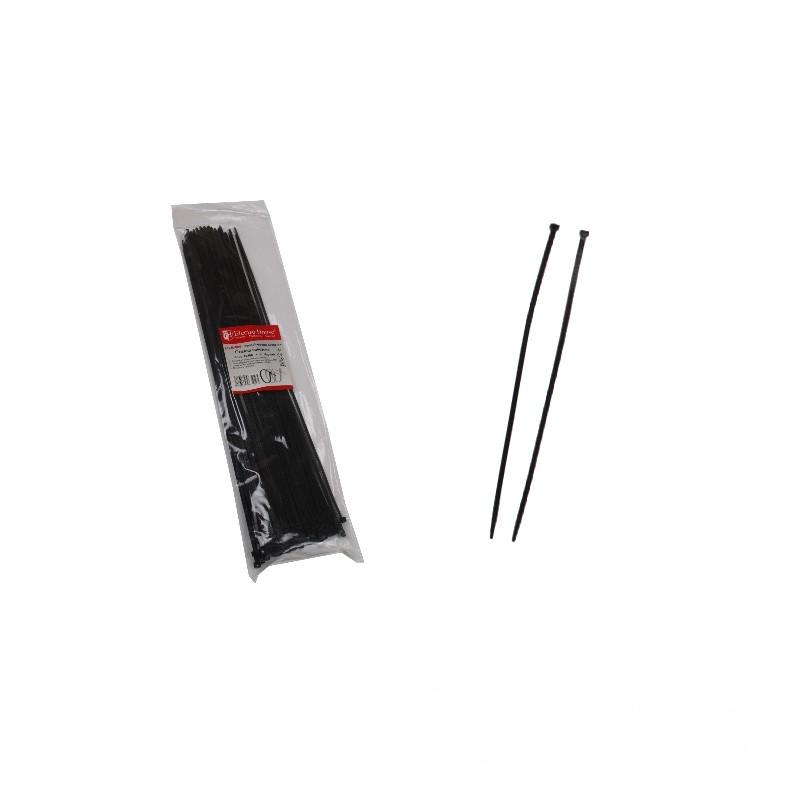 ElectroHouse Стяжка кабельная чёрная 4x400