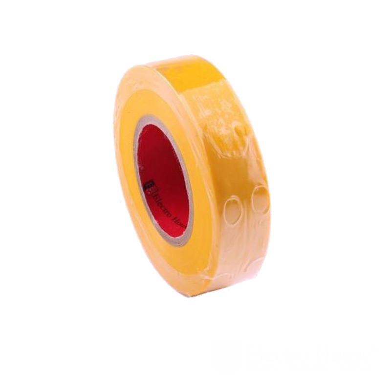 ElectroHouse Изолента желтая 0,15мм х 18мм х 11м