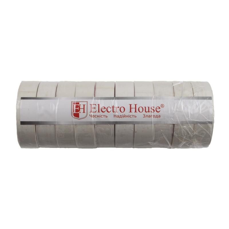 ElectroHouse Изолента белая 0,15мм х 18мм х 25м