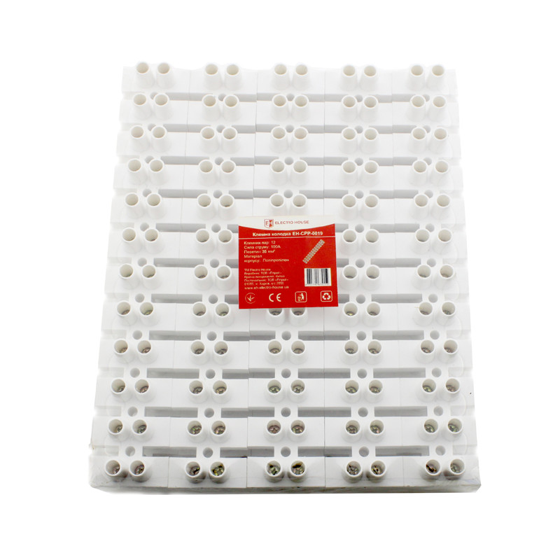 ElectroHouse Клеммная колодка 100A 40mm² Полипропилен винтовой зажим