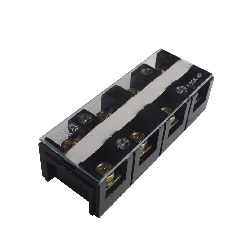 ElectroHouse Клеммная колодка в корпусе 60А 4 клемм. пары, термопластик