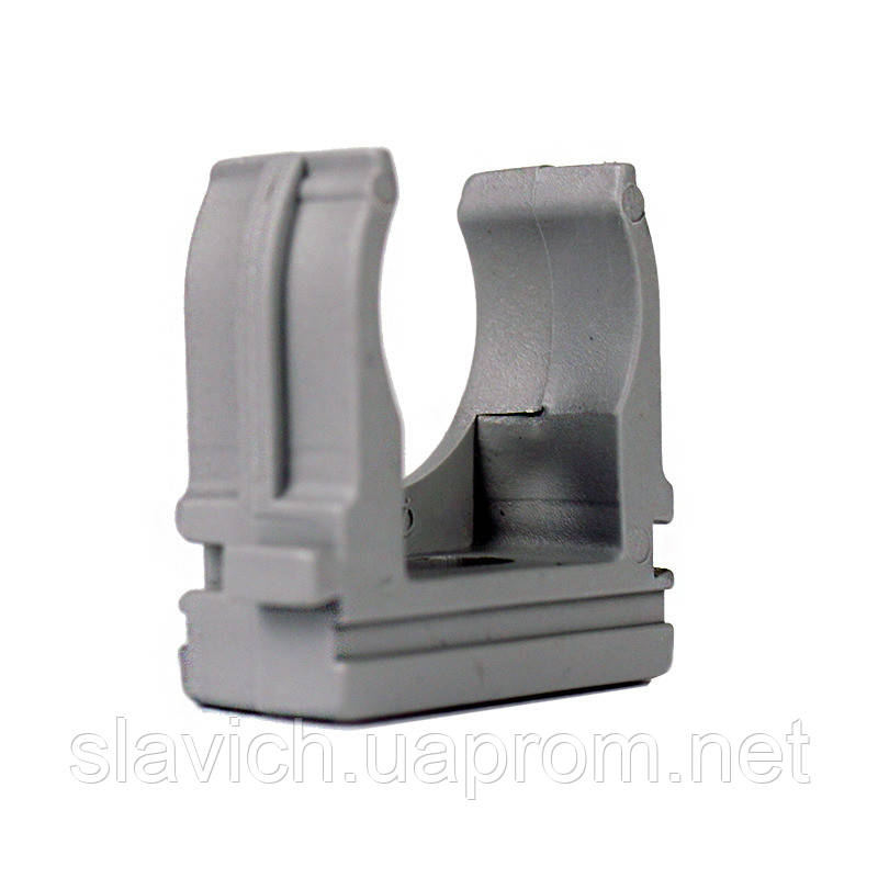 ElectroHouse Крепеж для гофротрубы Ø 25 мм, Ø отв. 5 мм, цвет серый 50 шт