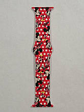 Ремешок Apple Watch Silicone DISNEY 42/44mm Mickey Mouse Red