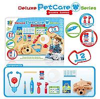 Детский игровой ветеринарный нобор. 12 предметов. Медицинские инструменты. Собачка или Кошка. 699-12 А/В