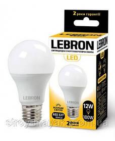 Світлодіодна LED лампа LEBRON L-A60, 12W, Е27 яскраве світло