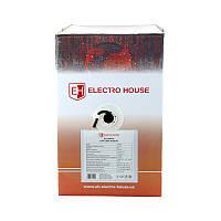 ElectroHouse Кабель UTP 4х2х0,51 Cu черный (наружный монтаж, со стальной проволокой)