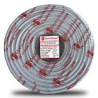 ElectroHouse Телевизионный (коаксиальный) кабель RG-6U Cu 1,02 Cu гермет. фольга белый ПВХ