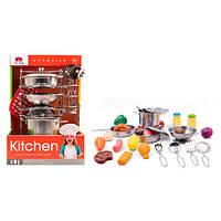 Посуда 555-BX013 кастрюли,кухонный набор,подставка,прихватка, металл,27пр,в кор-ке,20-30-20см