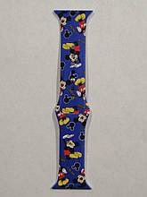 Ремешок Apple Watch Silicone DISNEY 42/44mm Mickey Mouse Blue