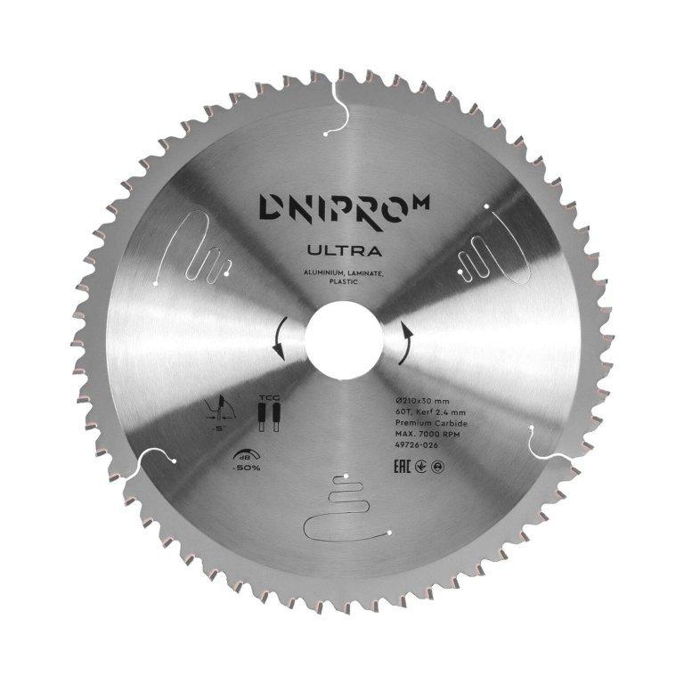 Пильный диск Dnipro-M ULTRA 210 мм 30 25.4 65Mn 60Т (алюм., пласт., лам.)