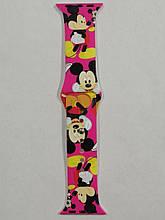 Ремешок Apple Watch Silicone DISNEY 42/44mm Mickey Mouse Pink