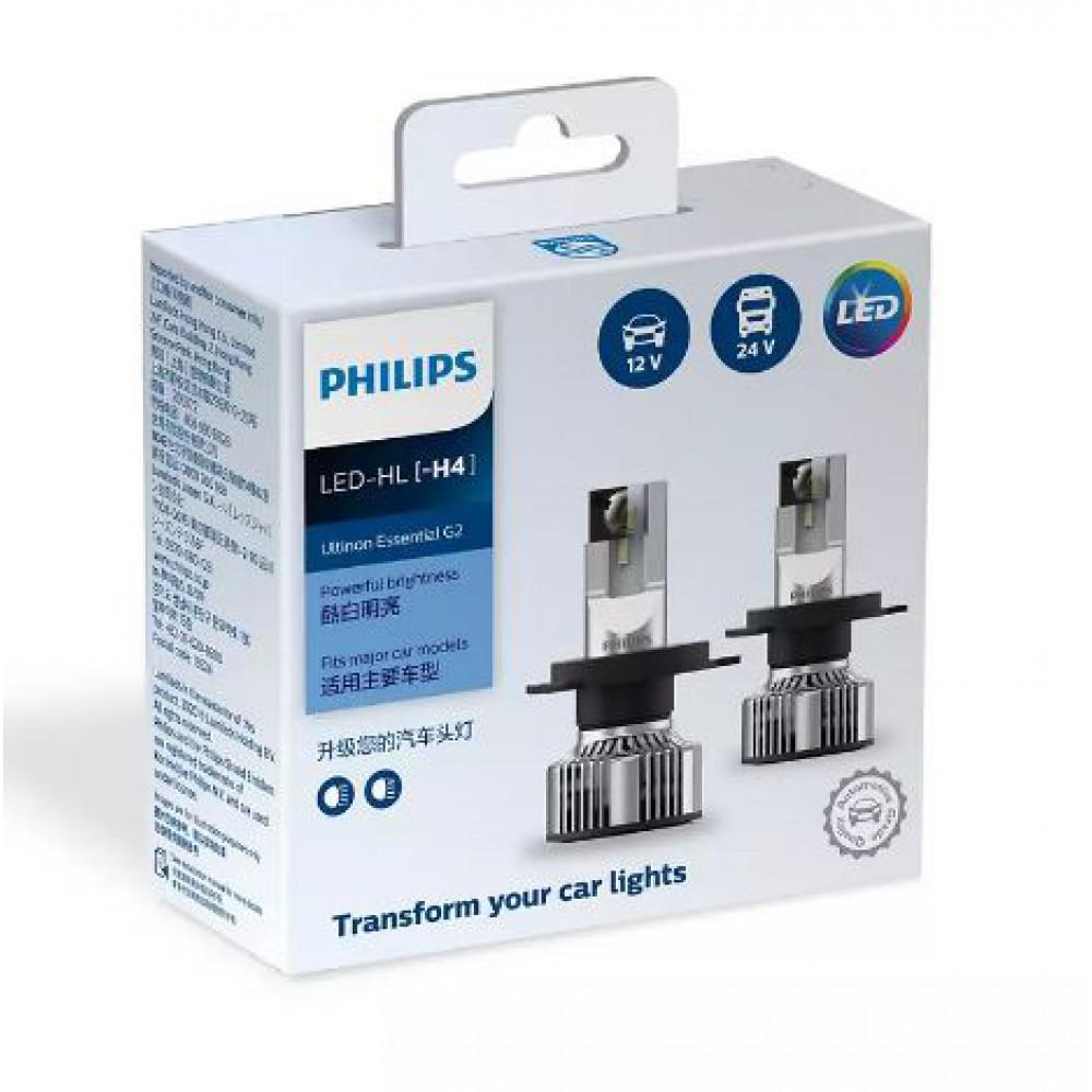 Лампы светодиодные PHILIPS 11342UE2X2 H4 21W 12-24V Ultinon Essential G2 6500K
