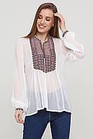 Шифоновые вышиванки Стильная женская блуза вышиванка белая ЕтноМодерн