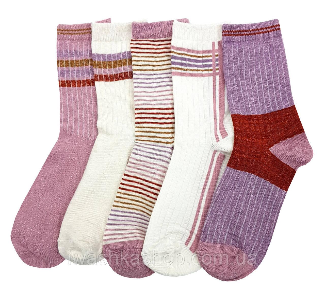 Блестящие носки комплектом на девочек 7 - 10 лет, Primark
