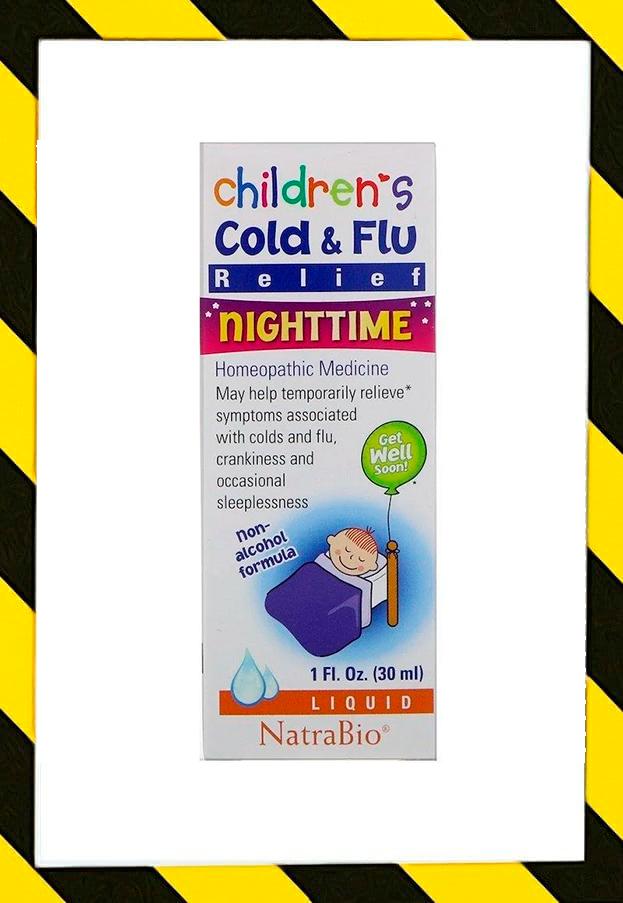 NatraBio, От простуды и гриппа для детей , для ночного использования, 30 мл