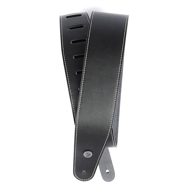 Ремінь для гітари d'addario 25LS00-DX Deluxe Leather Guitar Strap (Black with Contrast Stitch)