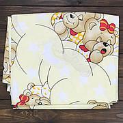 """Дитяче Змінне Постільна Білизна в Ліжечко для Новонароджених """"Ведмедики сплять, жовті"""""""